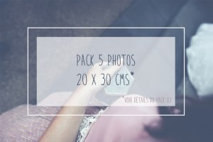 Pack 5 photos (20 X 30cms)